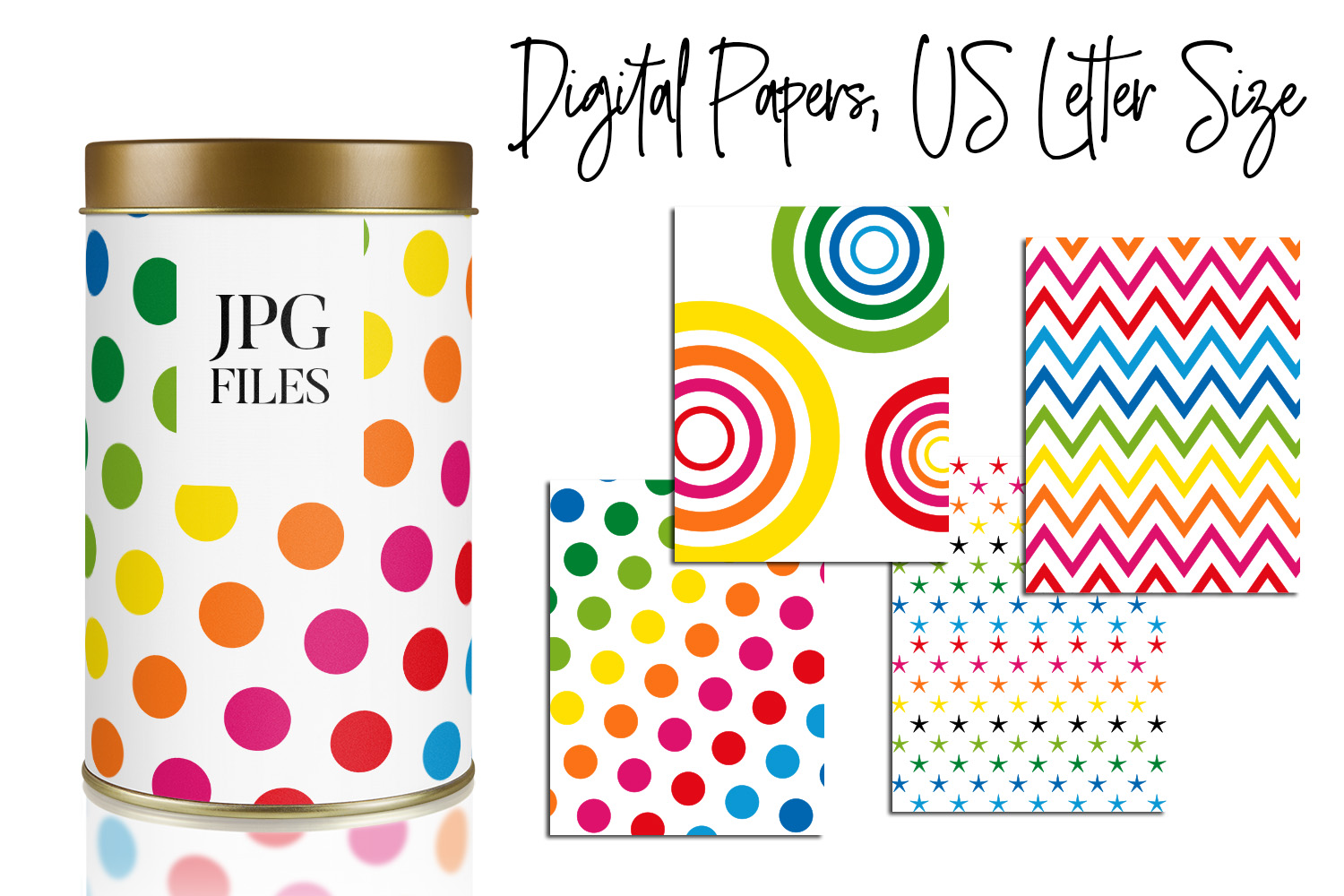 Digital Papers Bundle Vol. 2 - Background Patterns example image 19