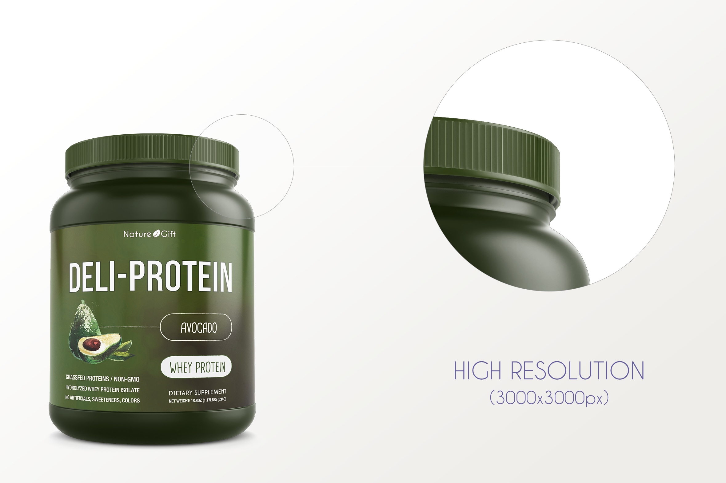 Protein Jar Mockup vol. 1A Plus example image 5