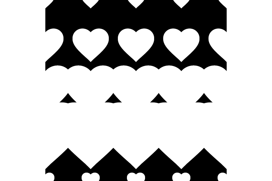 Set of 12 backgrounds with Hearts on Valentine's Day. example image 11