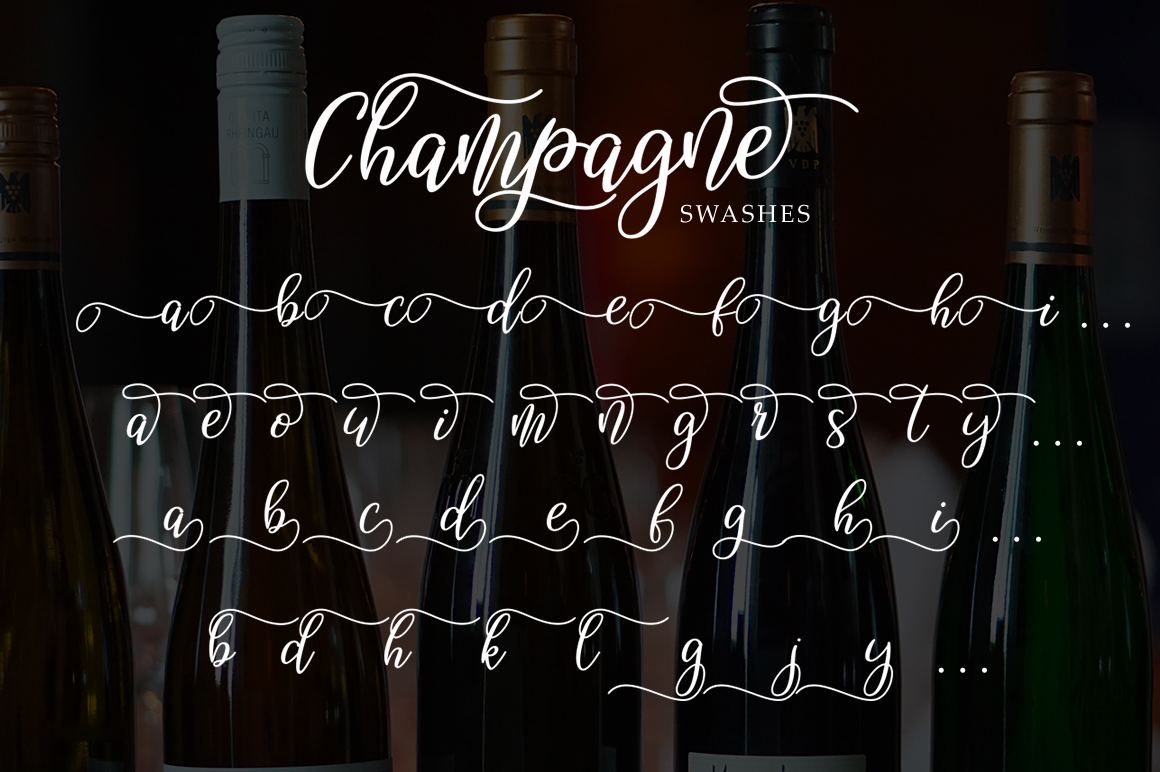 Champagne script example image 6