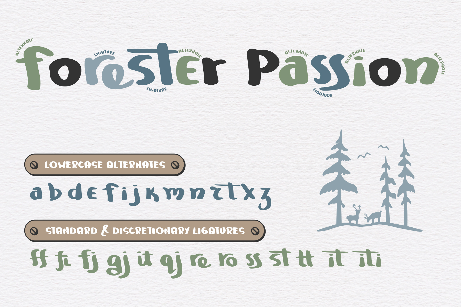Mountain Journey - a Fun Font Duo example image 3