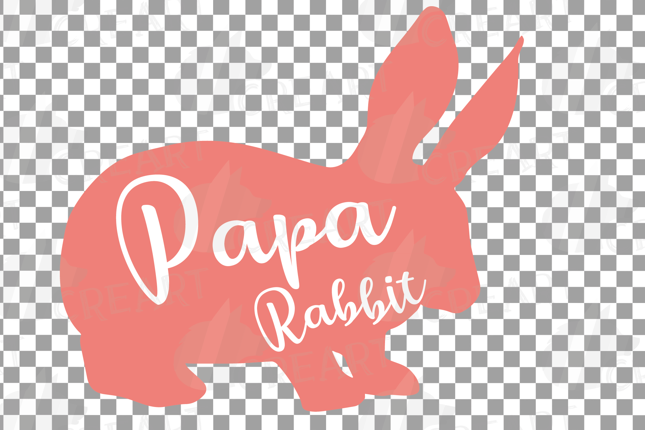 Rabbit family silhouettes, bunny silhouette svg cutting file example image 23