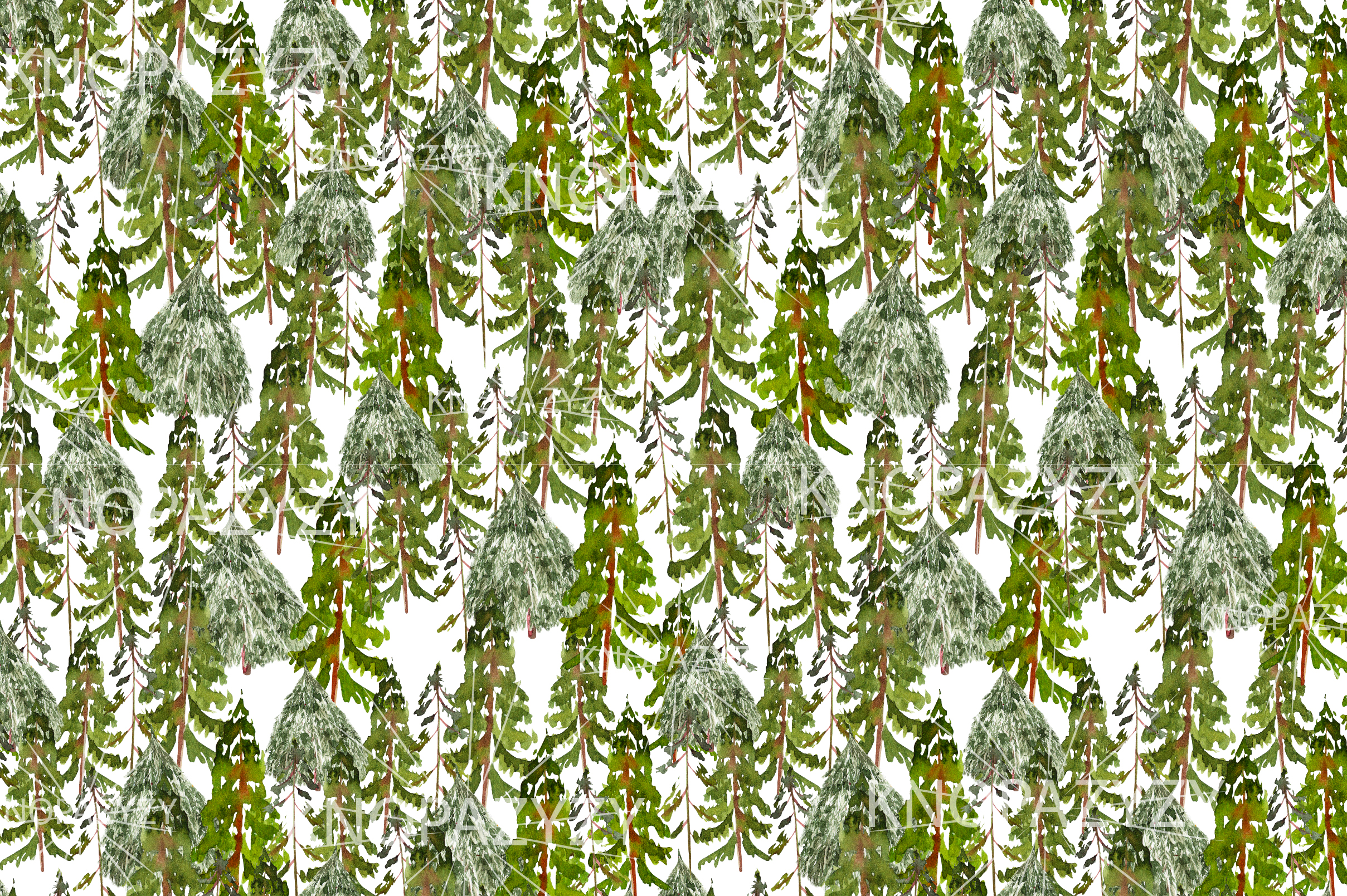 Hand Drawn Watercolor Christmas 13 Patterns example image 3