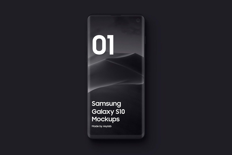 Samsung S10 - 21 Clay Mockups - 5K - PSD example image 8