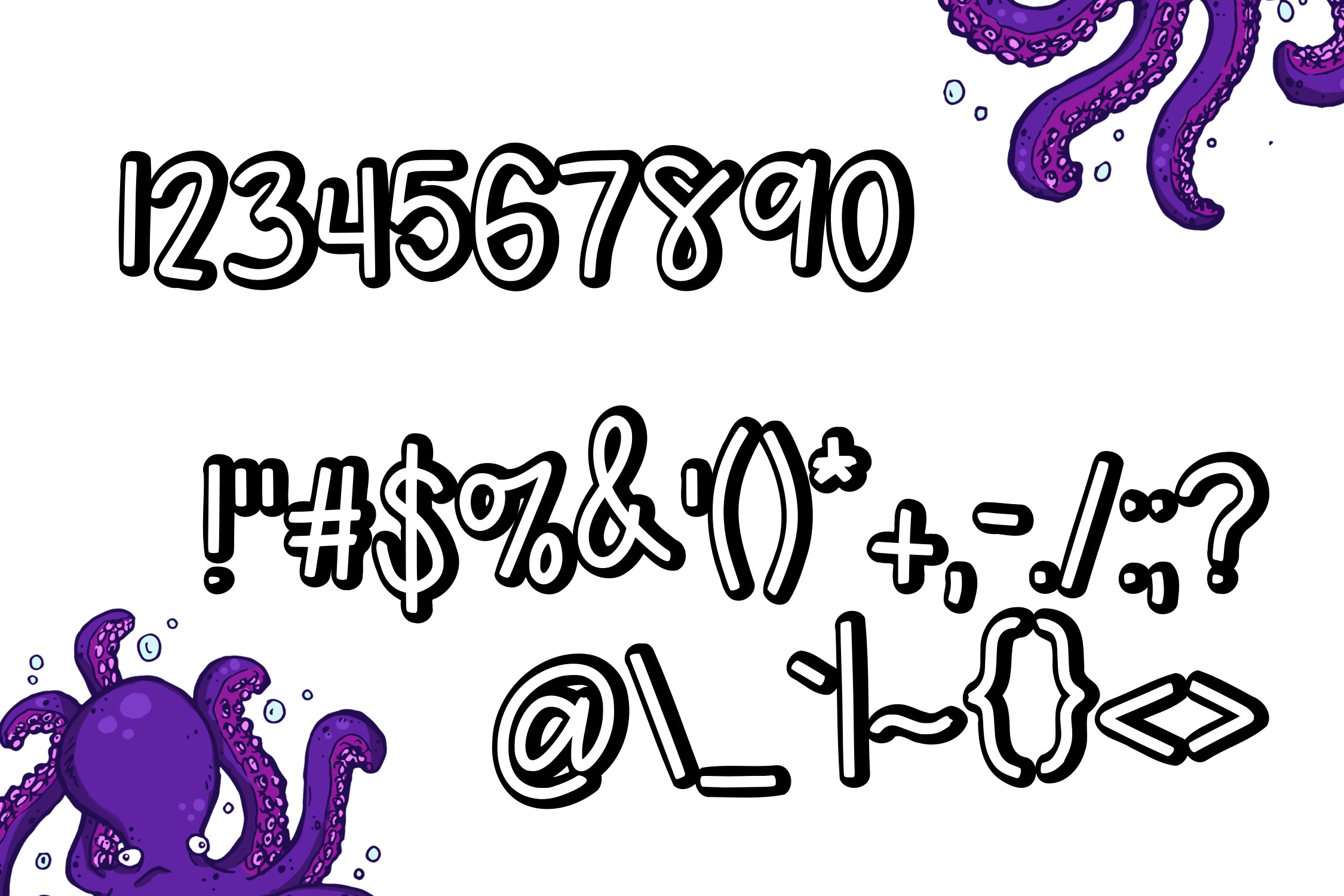 Awkward Octo a font Duo example image 4