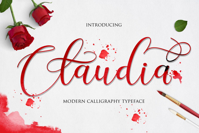 Claudia Script example image 1