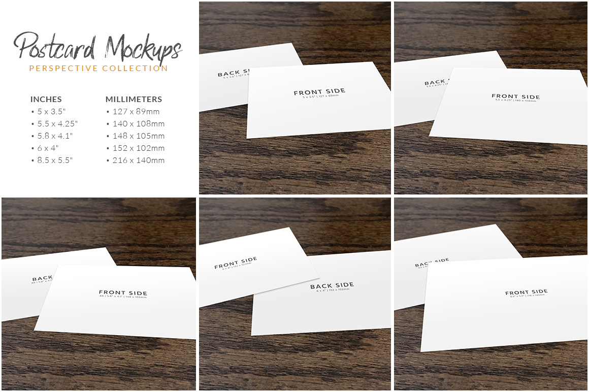 Postcard Mockup Bundle example image 2