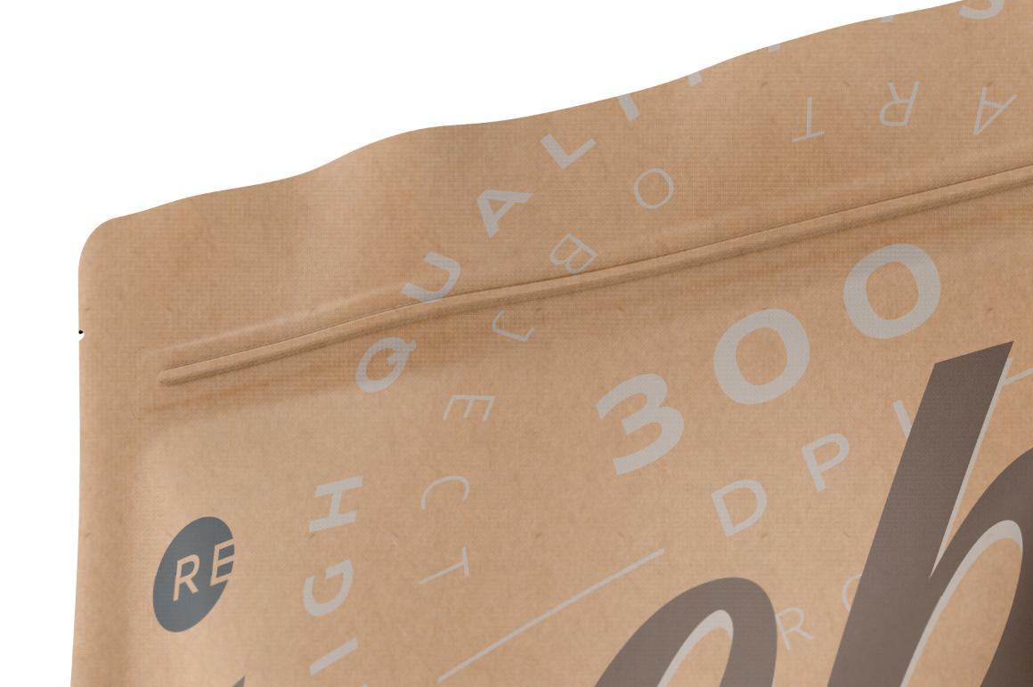 Kraft Cosmetics Bag Mockup example image 4