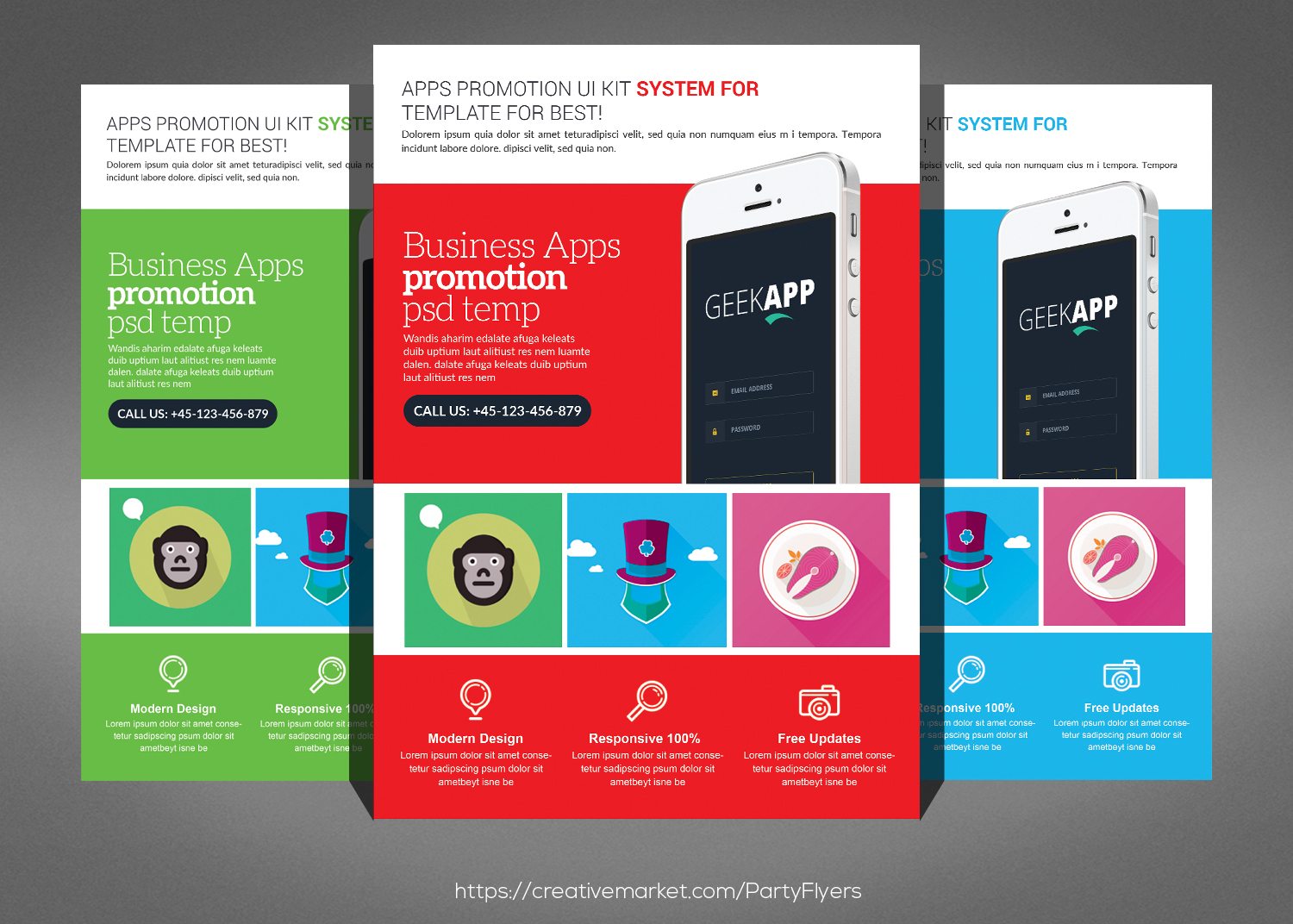 Clean Corporate Business Flyer Bundle example image 3