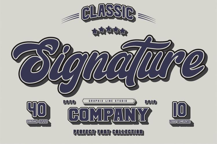 Signature Script Trio Font example image 1