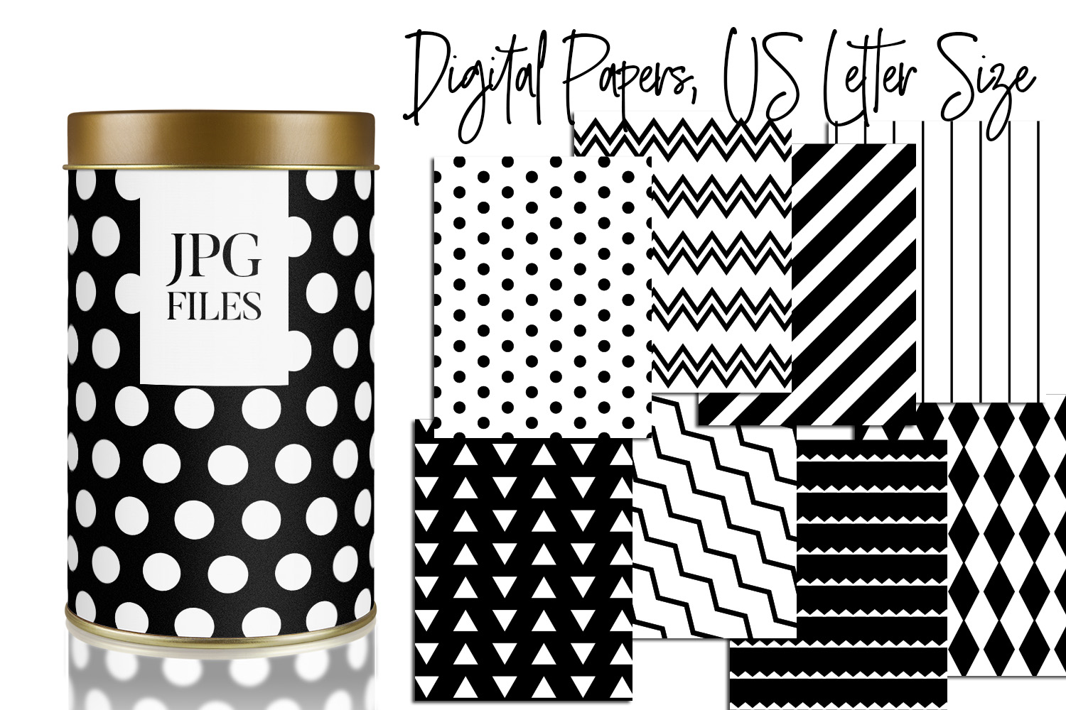 Digital Papers Bundle Vol. 2 - Background Patterns example image 5