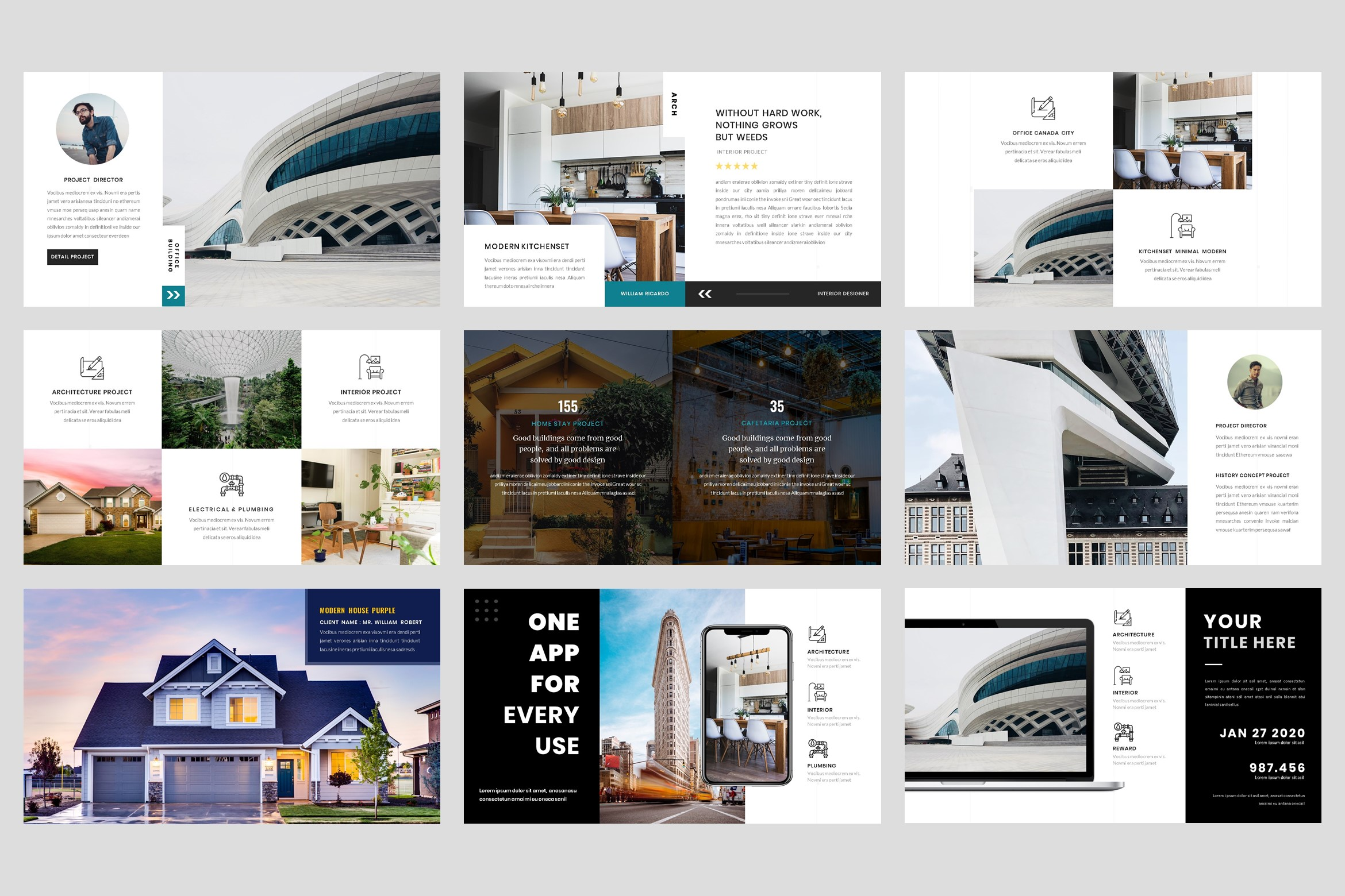 Architecture - Interior keynote Template example image 4