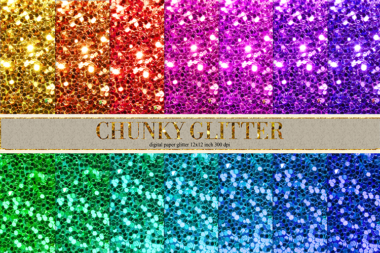Chunky glitter digital paper example image 1