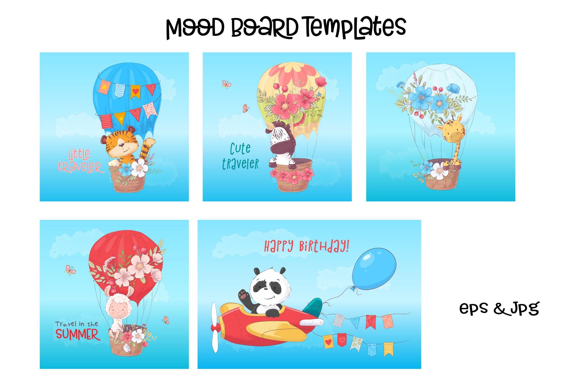 Tropical animals vector clip art example image 5