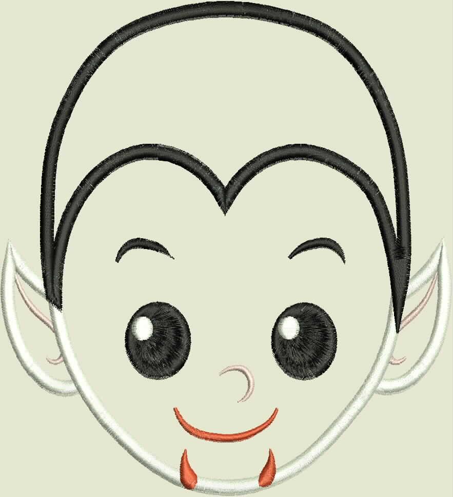 Vampire Boy Machine Applique Embroidery Design example image 2
