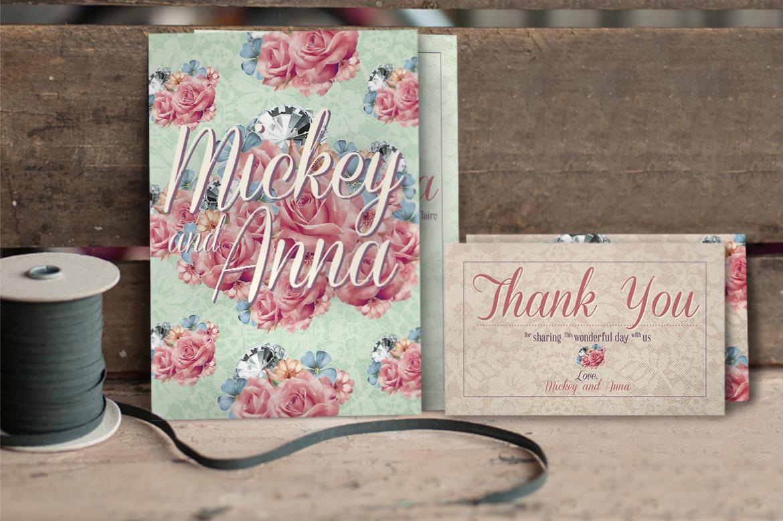 Flower Pattern Wedding Invitation example image 3