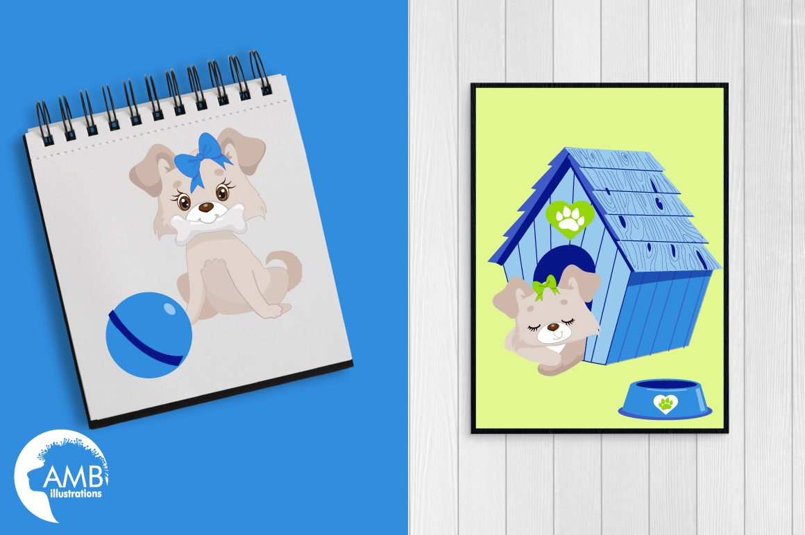 Boy Puppy Dog clipart, graphics, illustrations AMB-1930 example image 5