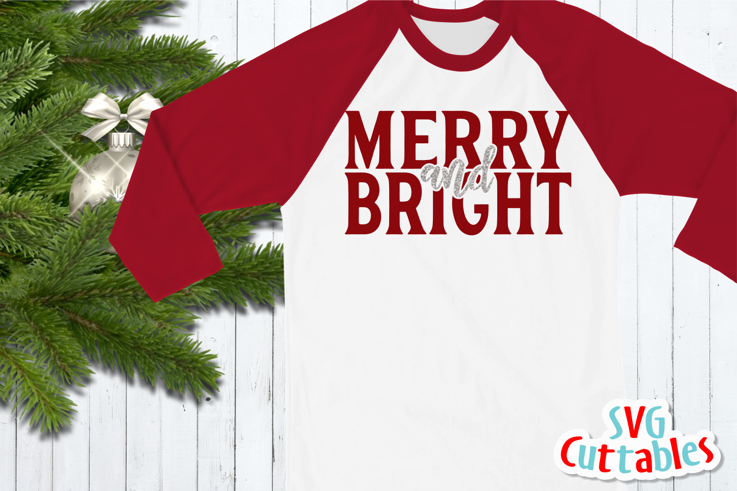 Merry and Bright | Cut File example image 2