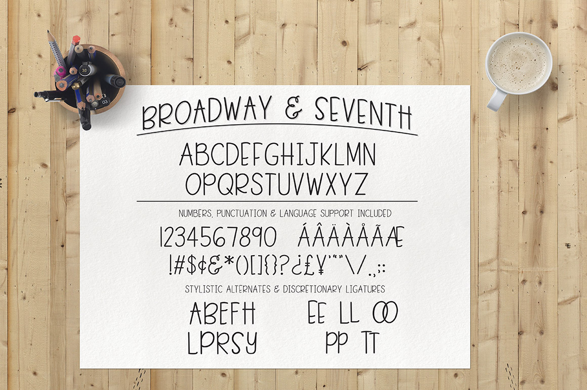 Broadway & Seventh Font example image 2
