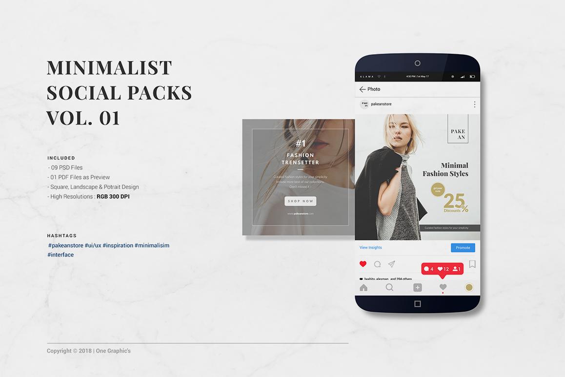 Minimalist Social Packs example image 1