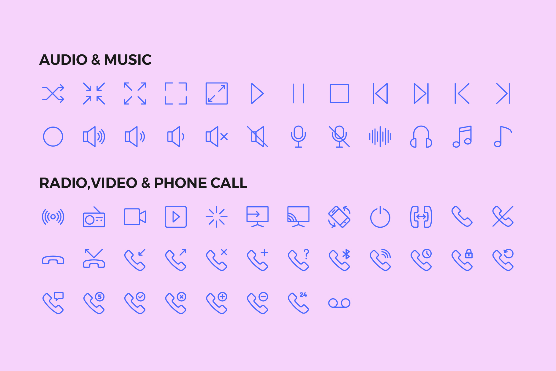 250 User Interface Line Icons example image 5