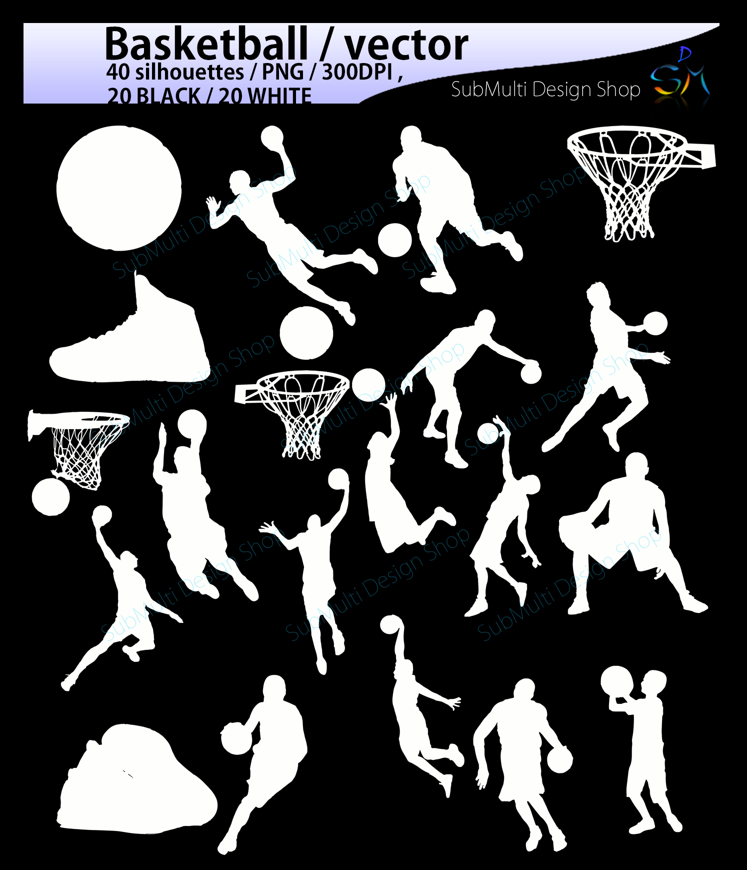 basketball svg / basketball silhouette / basketball players silhouette / HQ / baseketball SVG file / vector basketball / Eps / Dxf / Png example image 3