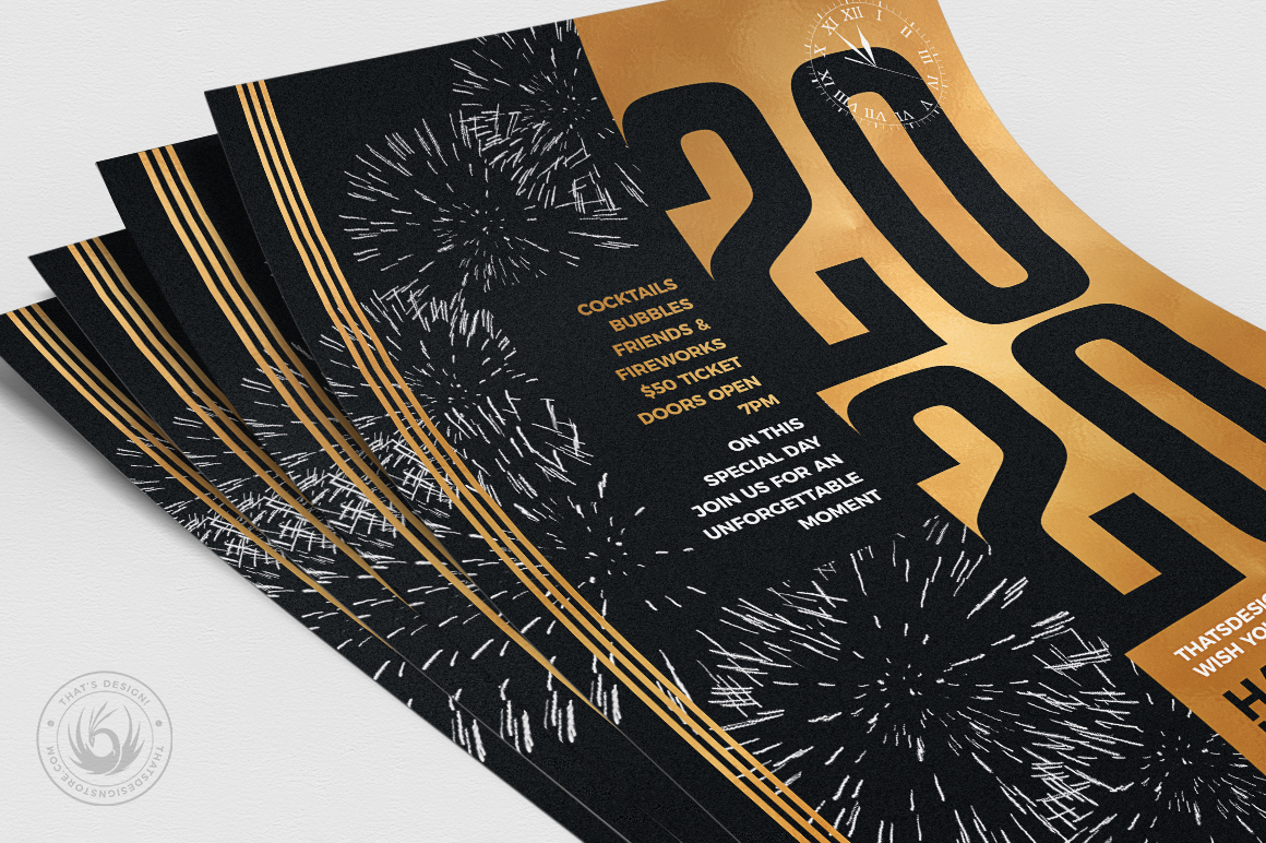 New Year Flyer Template V9 example image 5
