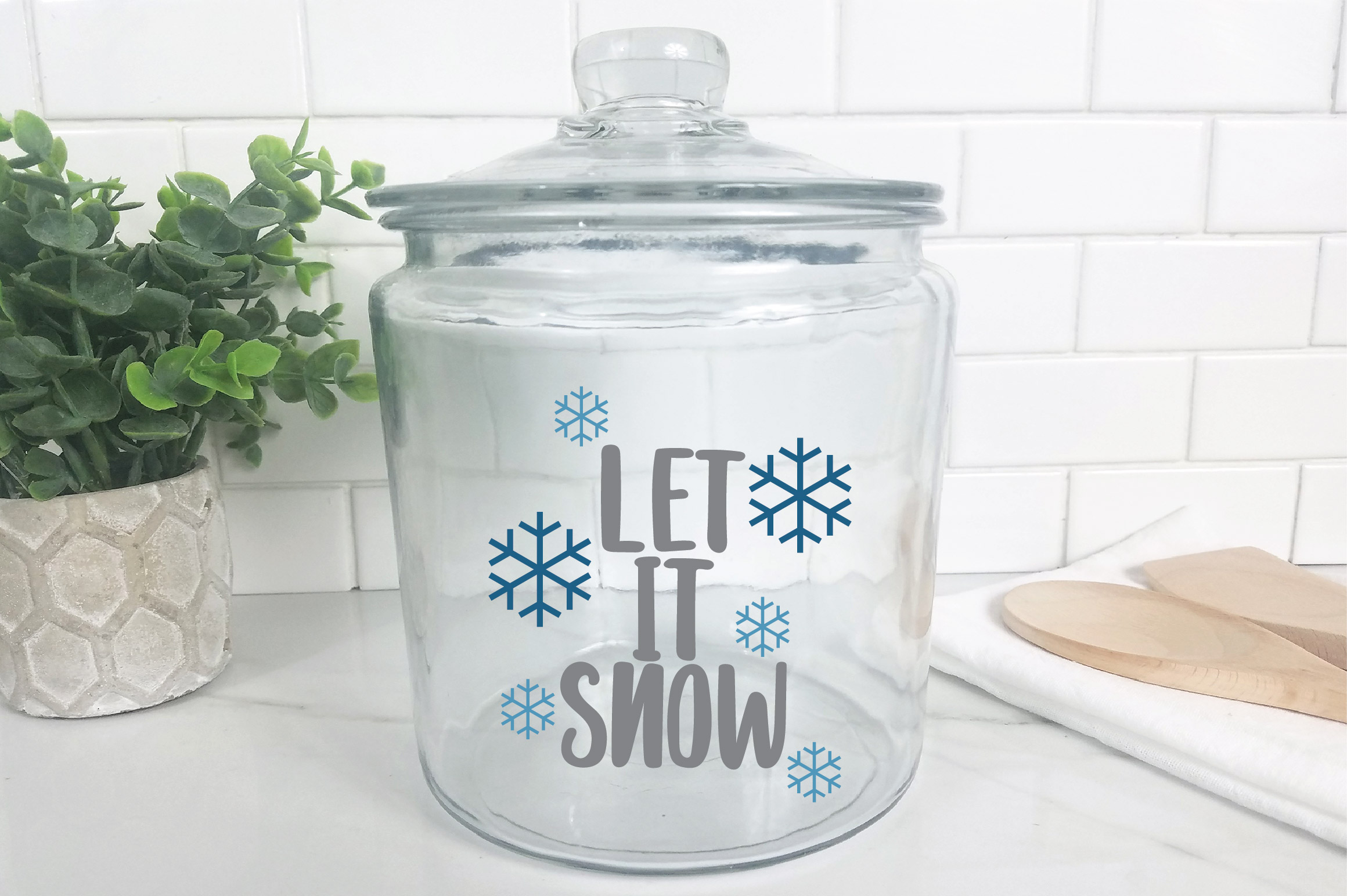 Let it Snow SVG Cut File - Christmas SVG example image 9