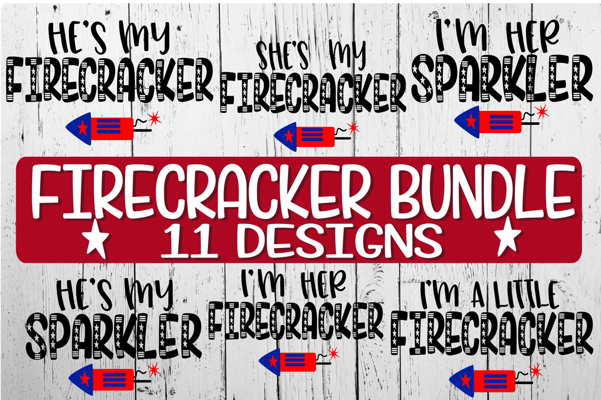 Firecracker Bundle - 11 Designs Included! example image 1