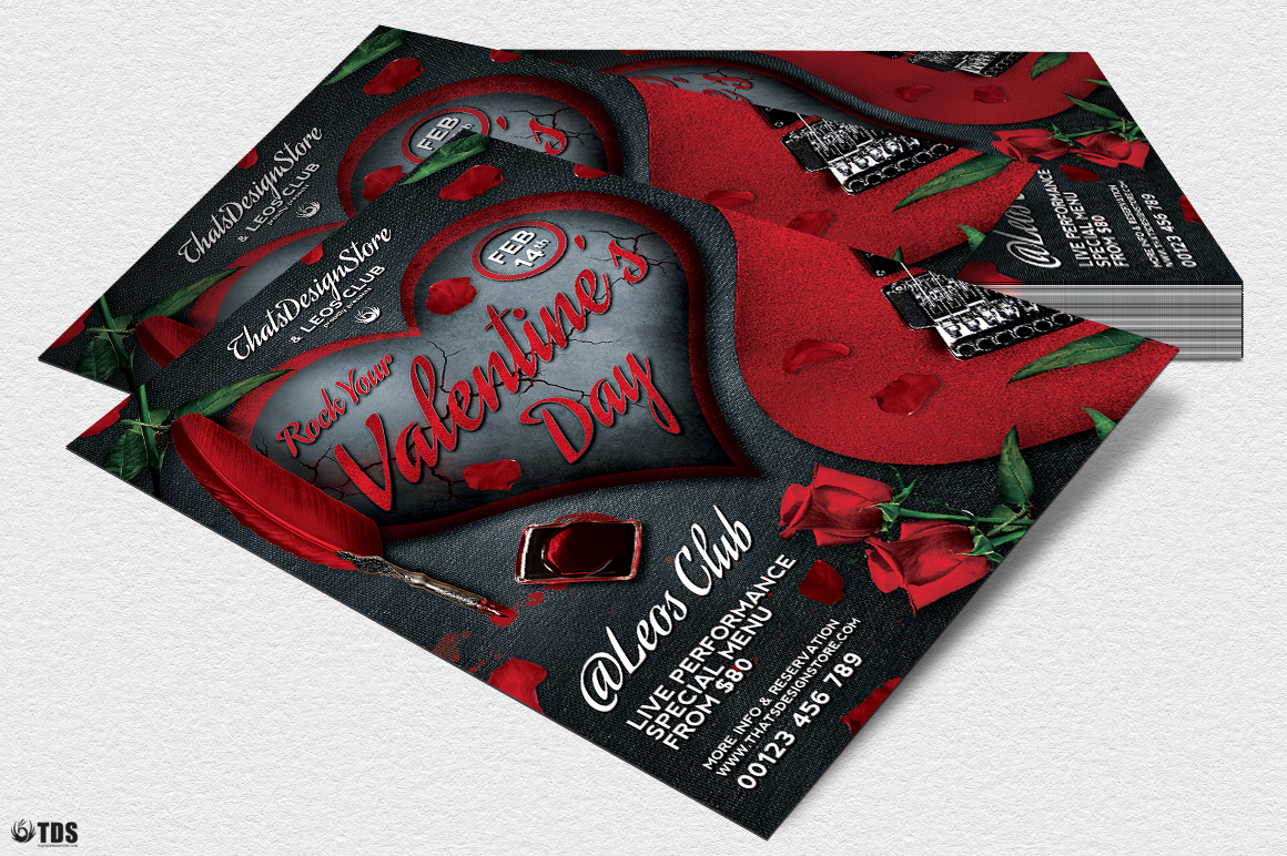 Rock Your Valentine Flyer Template example image 4