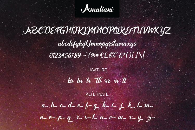 Amaliani Font example image 4