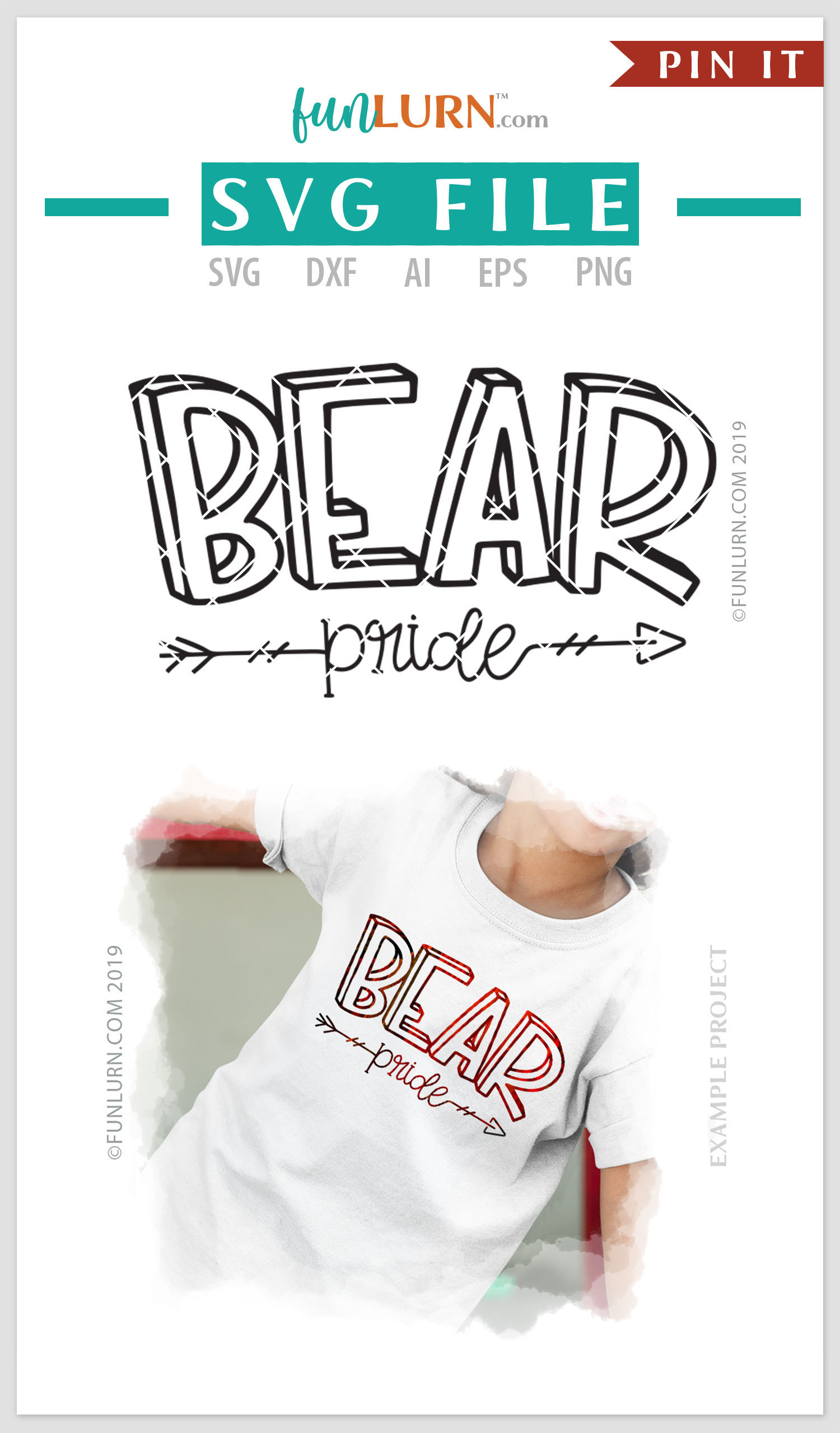 Bear Pride Team SVG Cut File example image 4