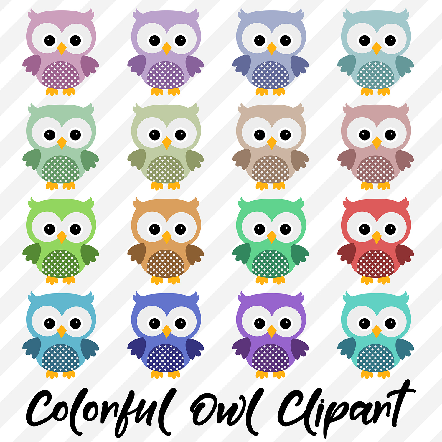 Owl Clipart, Cute Owls example image 2