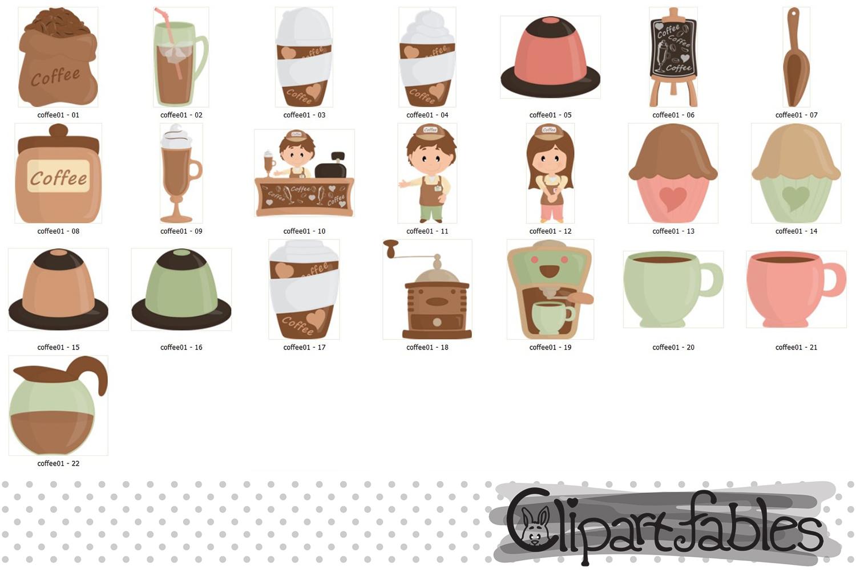 Coffee clipart, Coffee shop clip art, espresso, latte party example image 2