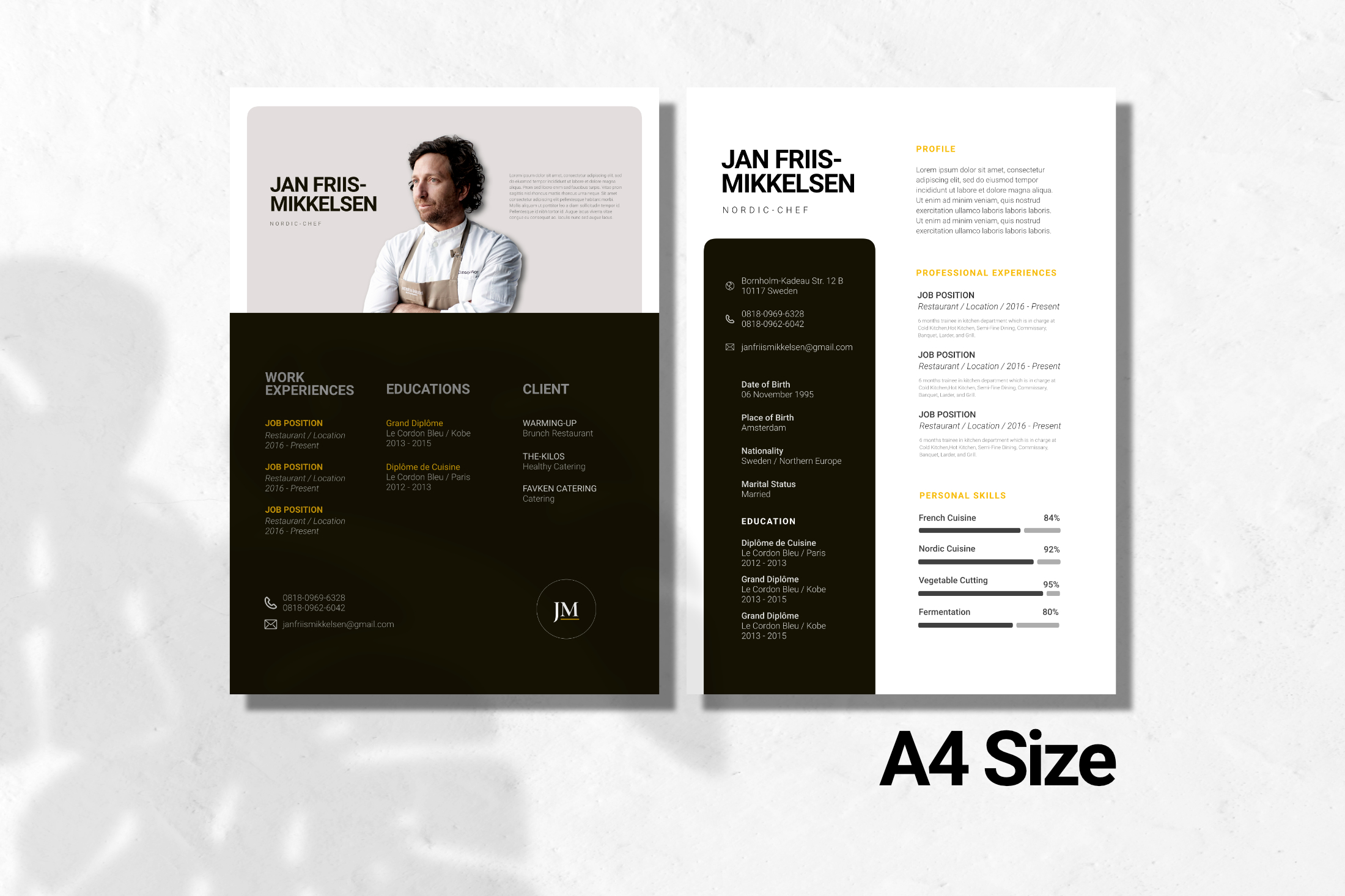 Clean Chef Resume Google Slides example image 3
