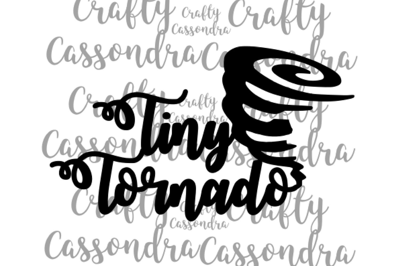 Tiny Tornado - Kids clothing svg files - Toddler shirt ideas example image 2