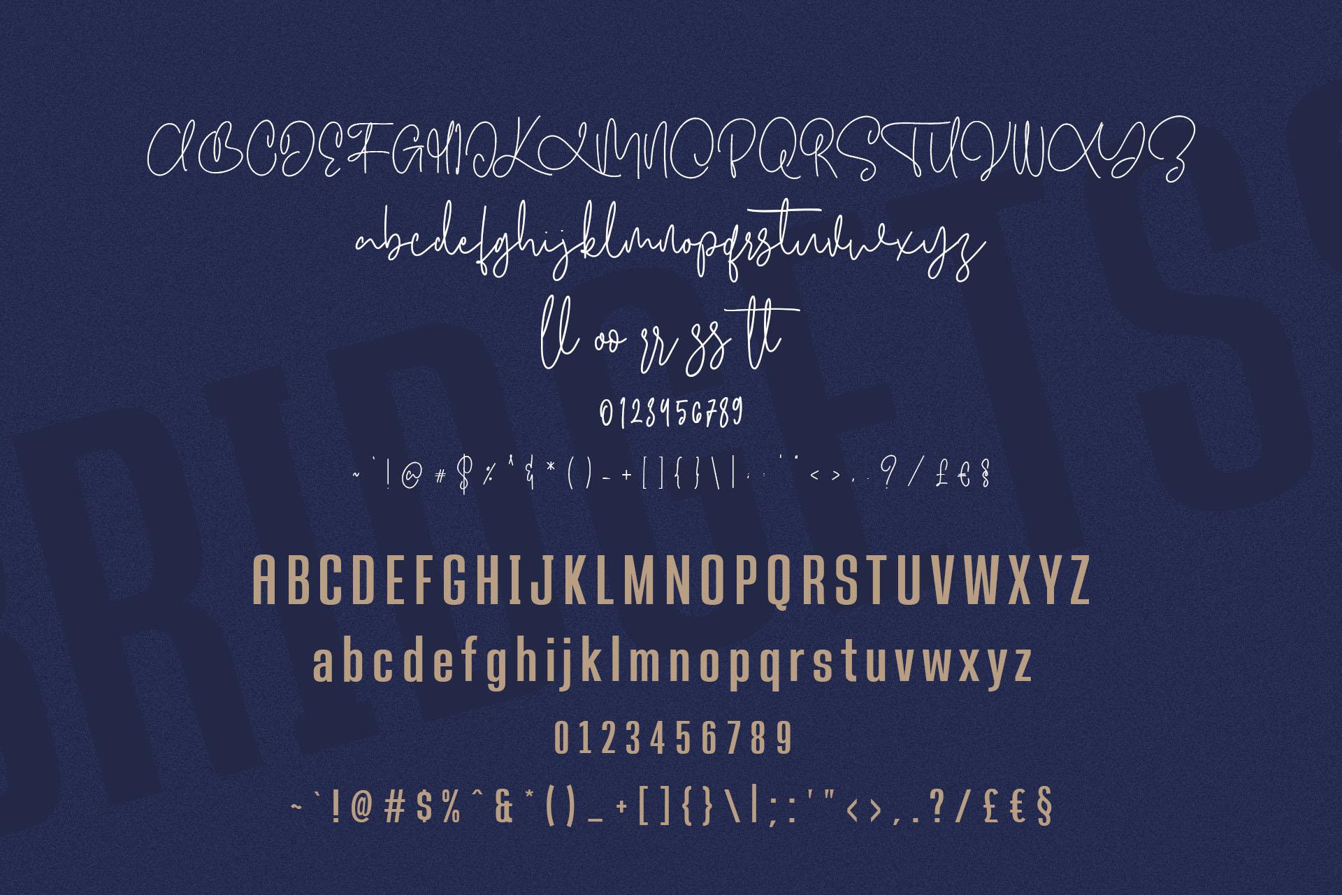 Bridgetts Typeface Free Sans Serif example image 10