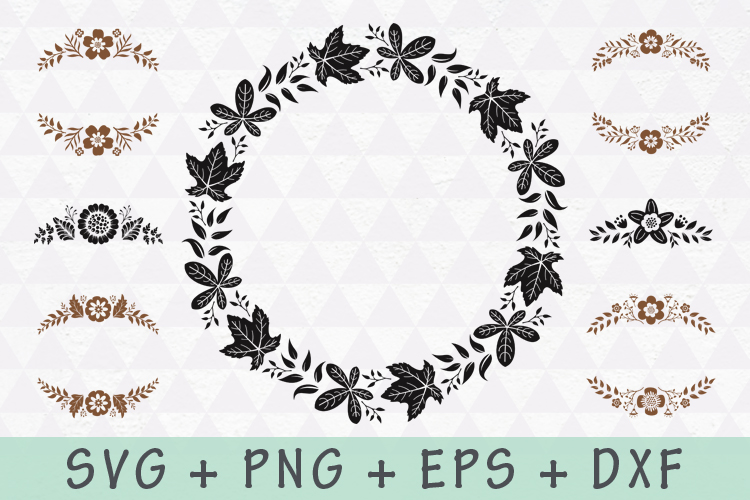 Floral Wreath and Flourishes set example image 2