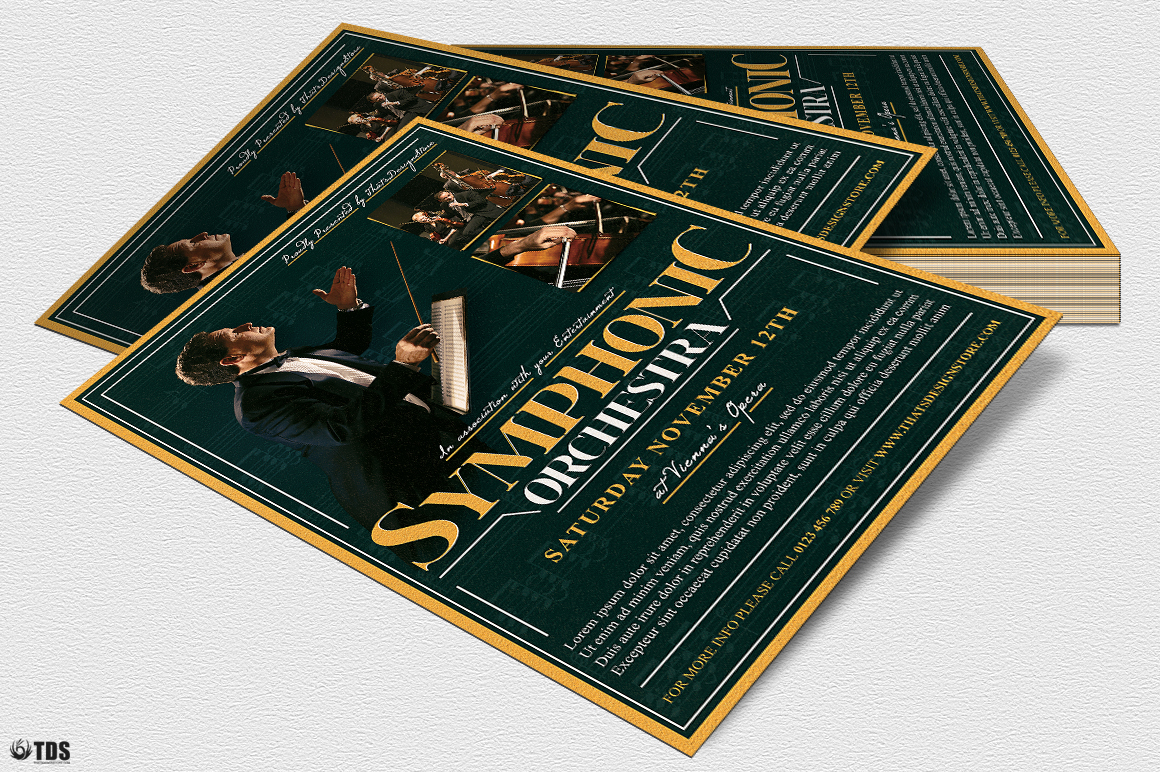 Symphonic Orchestra Flyer Template V2 example image 5