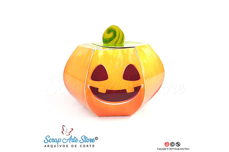 Box pumpkin hallowenn Cut Files example image 4