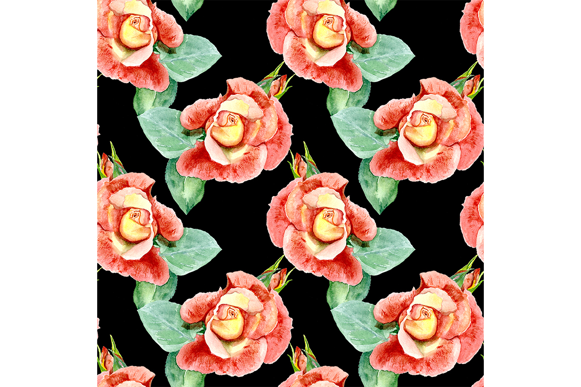 Seamless pattern roses. example image 1