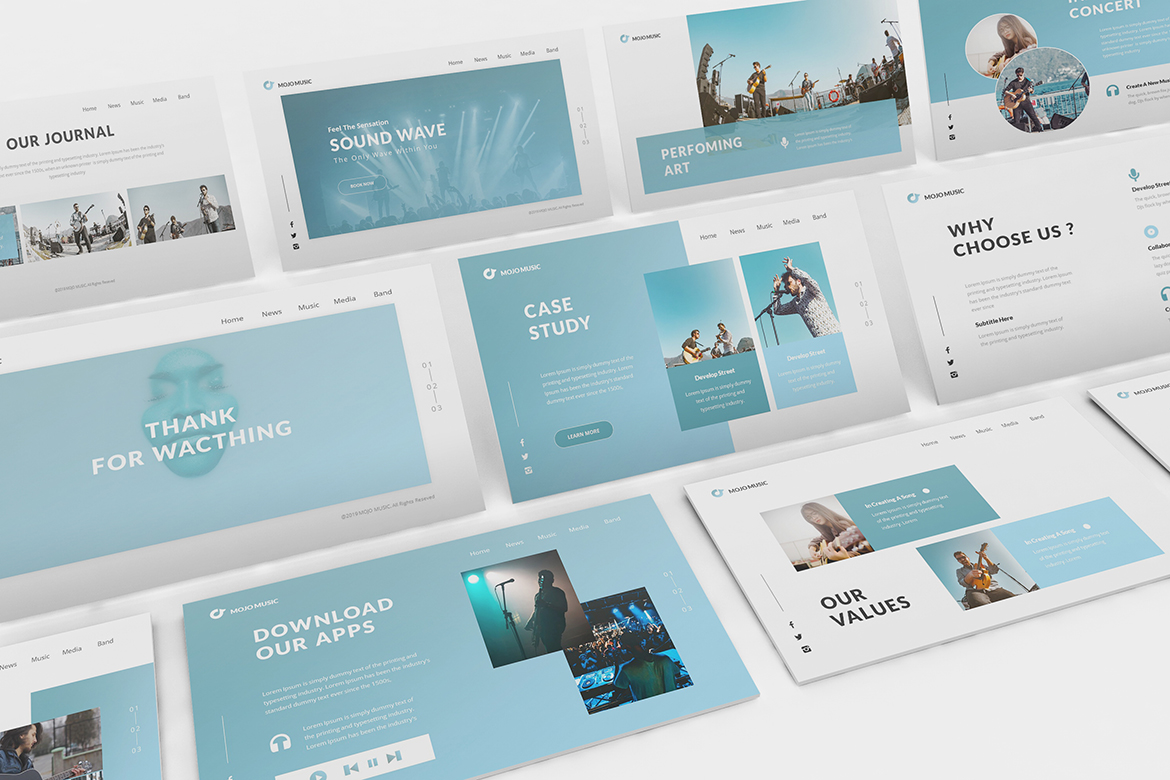 Music Powerpoint Template example image 2