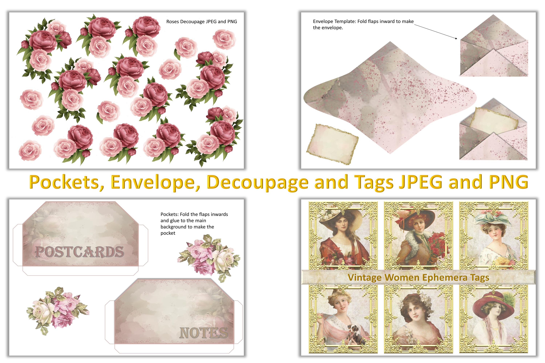 Shabby Chic Vintage Journaling Kit & Free Ephemera & clipart example image 7