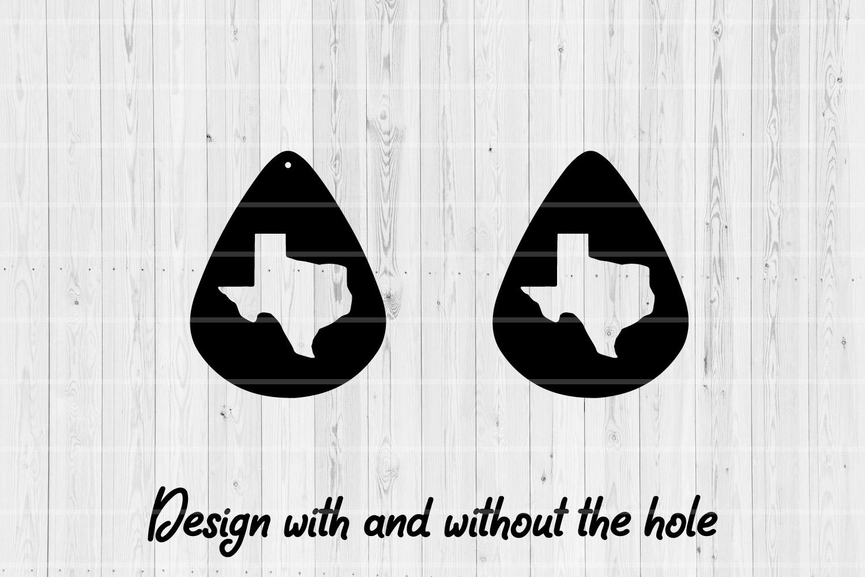 Texas Teardrop Earrings   8Cutting Files   Leather Earrings example image 2