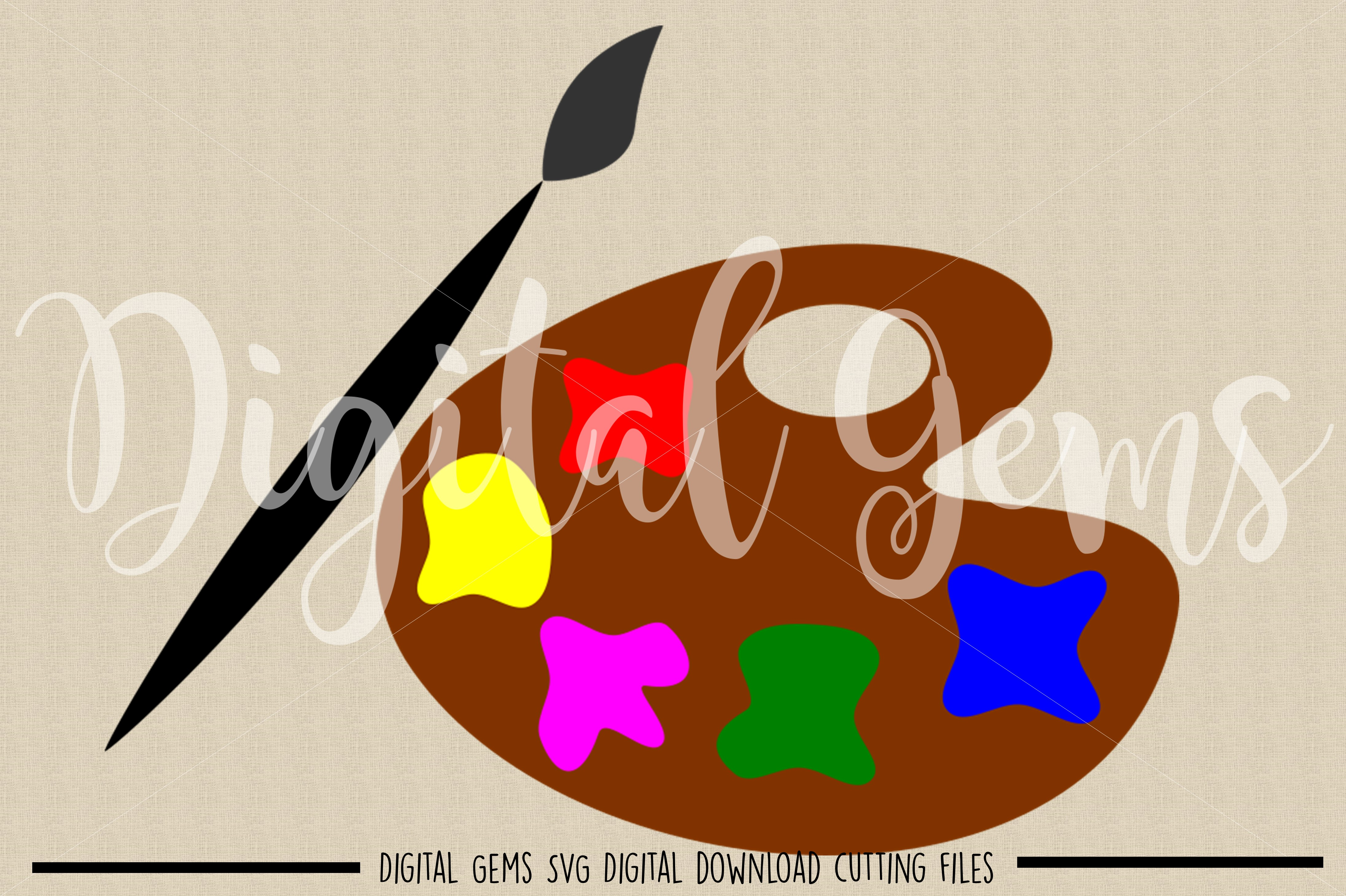 Paint pallet SVG / EPS / DXF / PNG files example image 2