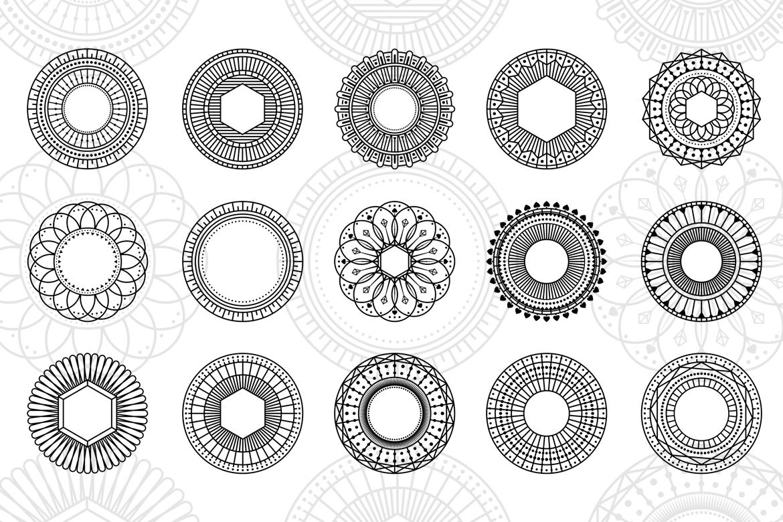 100 Geometric Costum Shapes - CSH example image 2