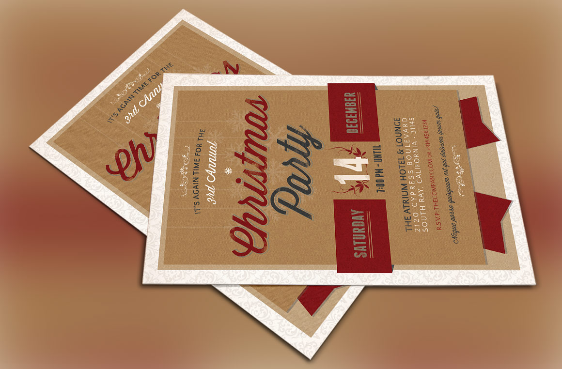 Christmas Party Invitation Template example image 4