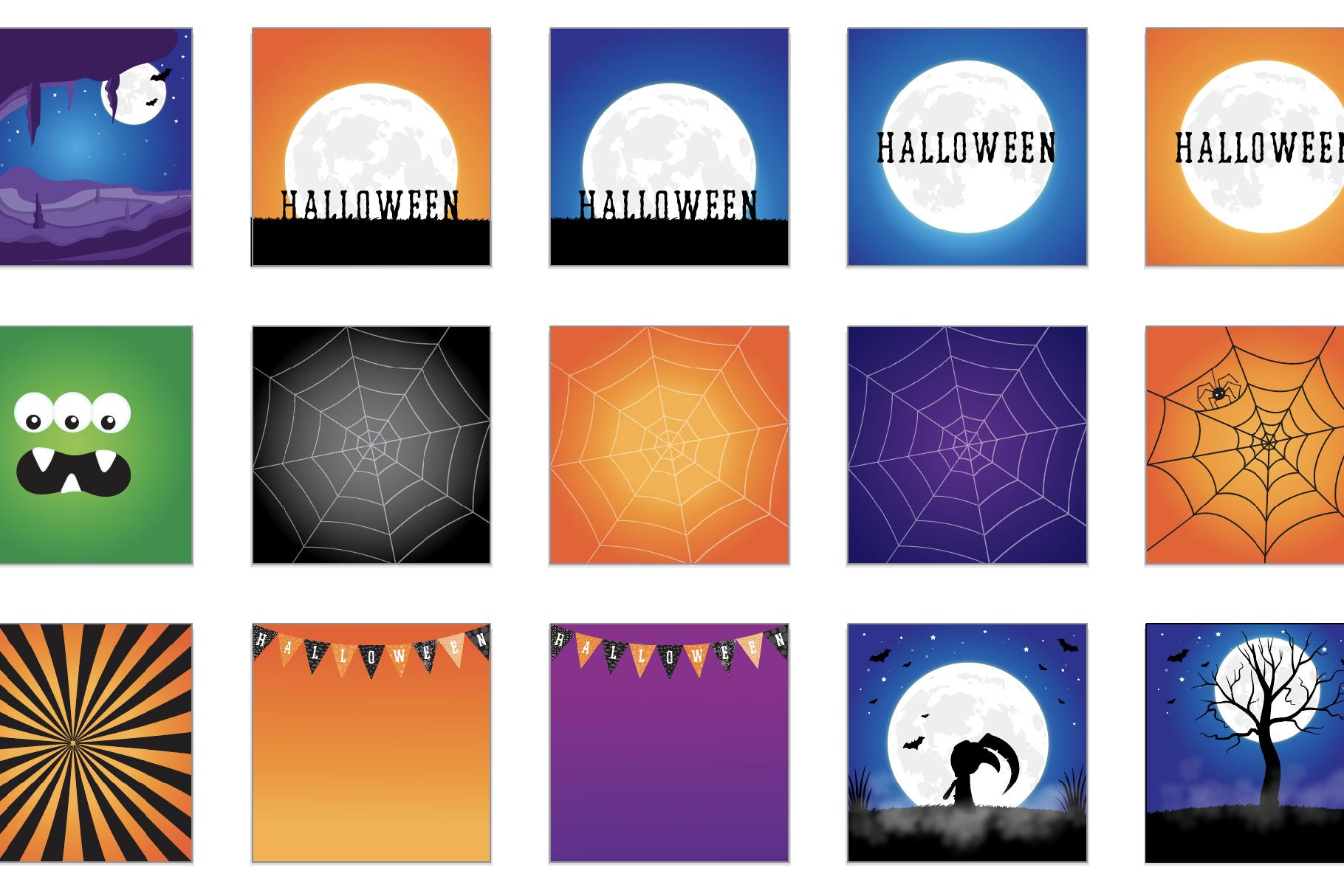 60 SCENES/BACKGROUNDS - Halloween Unicorn Bundle - 98OFF example image 3