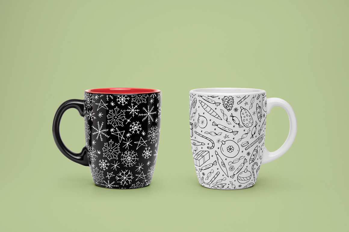 Christmas seamless patterns. example image 4