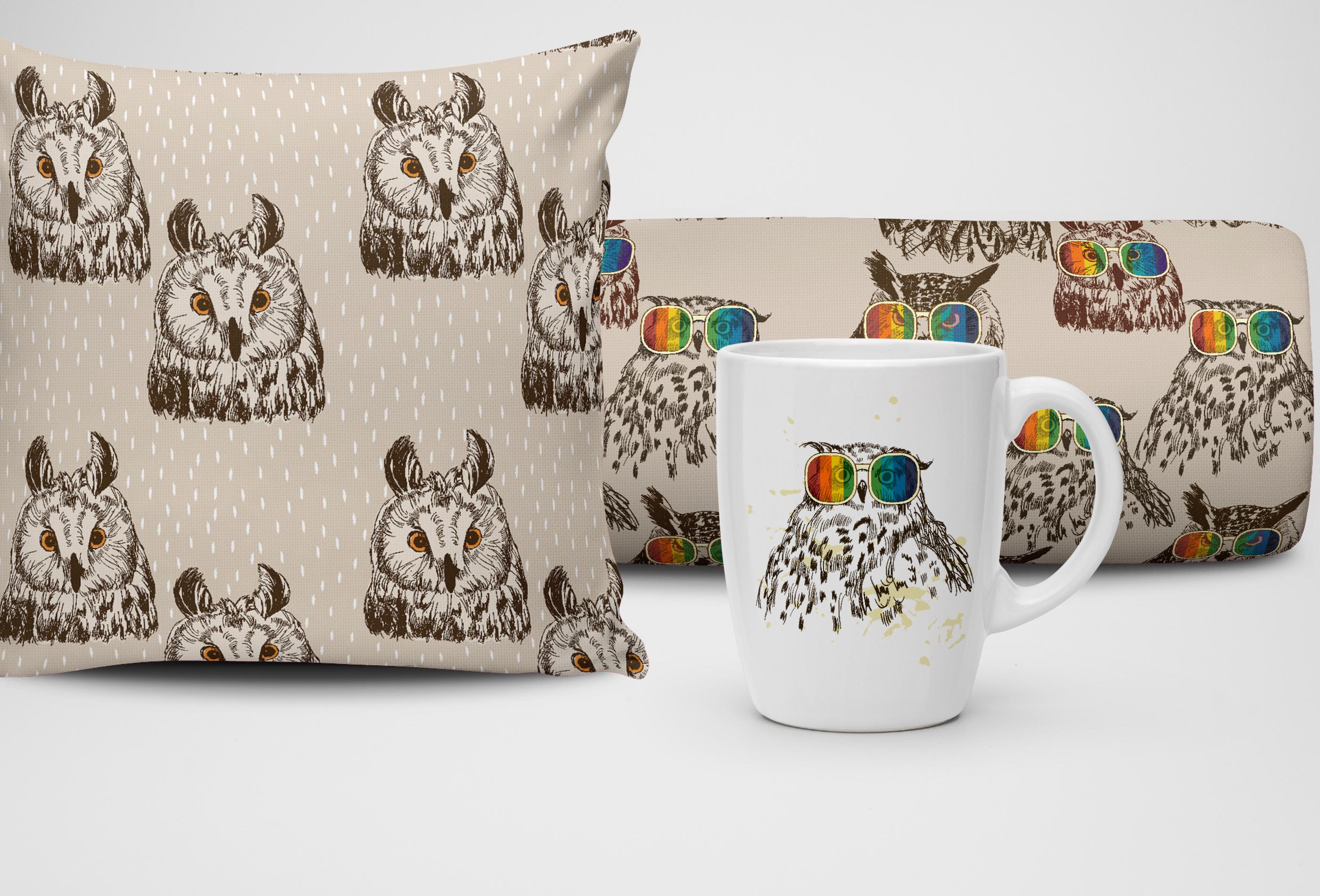 Fashion owls set example image 3